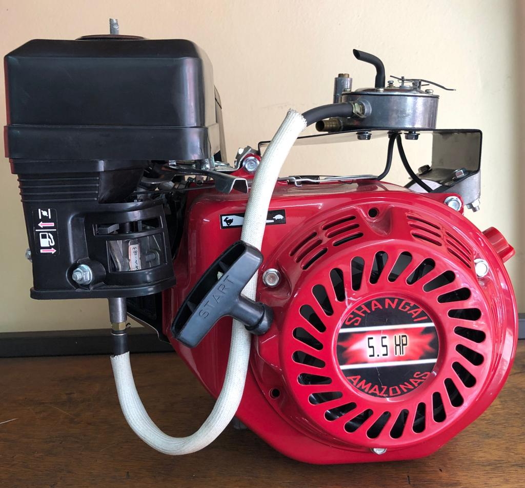 Motor a Gás 5.5 HP - Partida Manual -  Shanghai Amazonas