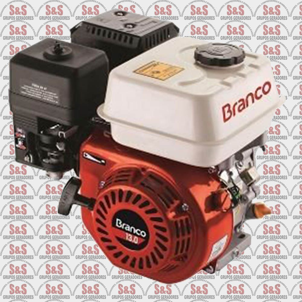 Motor a Gasolina 13,0 HP Partida Eletrica - B4T13,0H - Branco