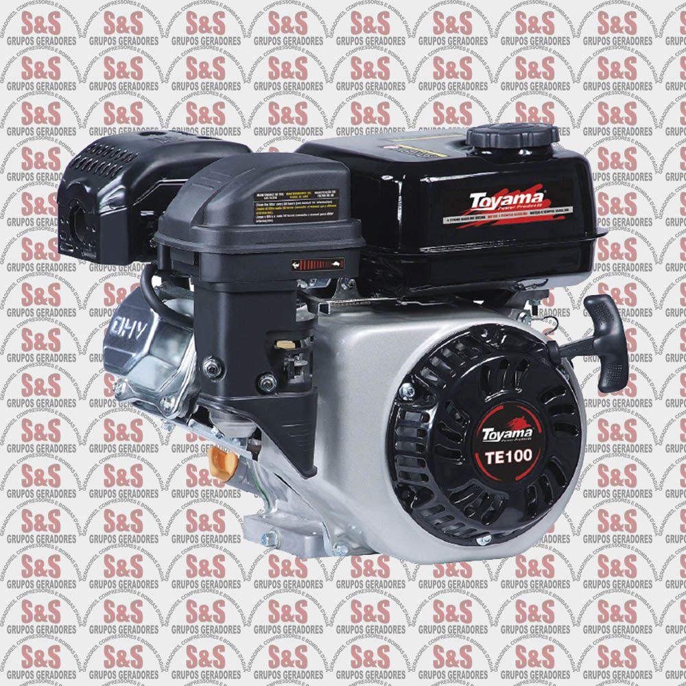 Motor a Gasolina 4 Tempos 10hp - Partida Eletrica - Monocilindrico OHV 25°- TE100E-XP - Toyama