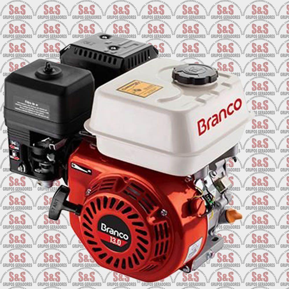 Motor a Gasolina - 4 Tempos - 13 CV - Partida Manual - B4T13,0  - Branco