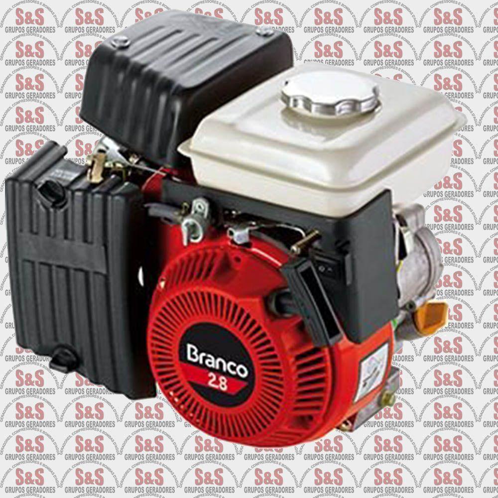 Motor a Gasolina - 4 Tempos - 2.8 CV - Partida Manual - B4T2.8H - Branco