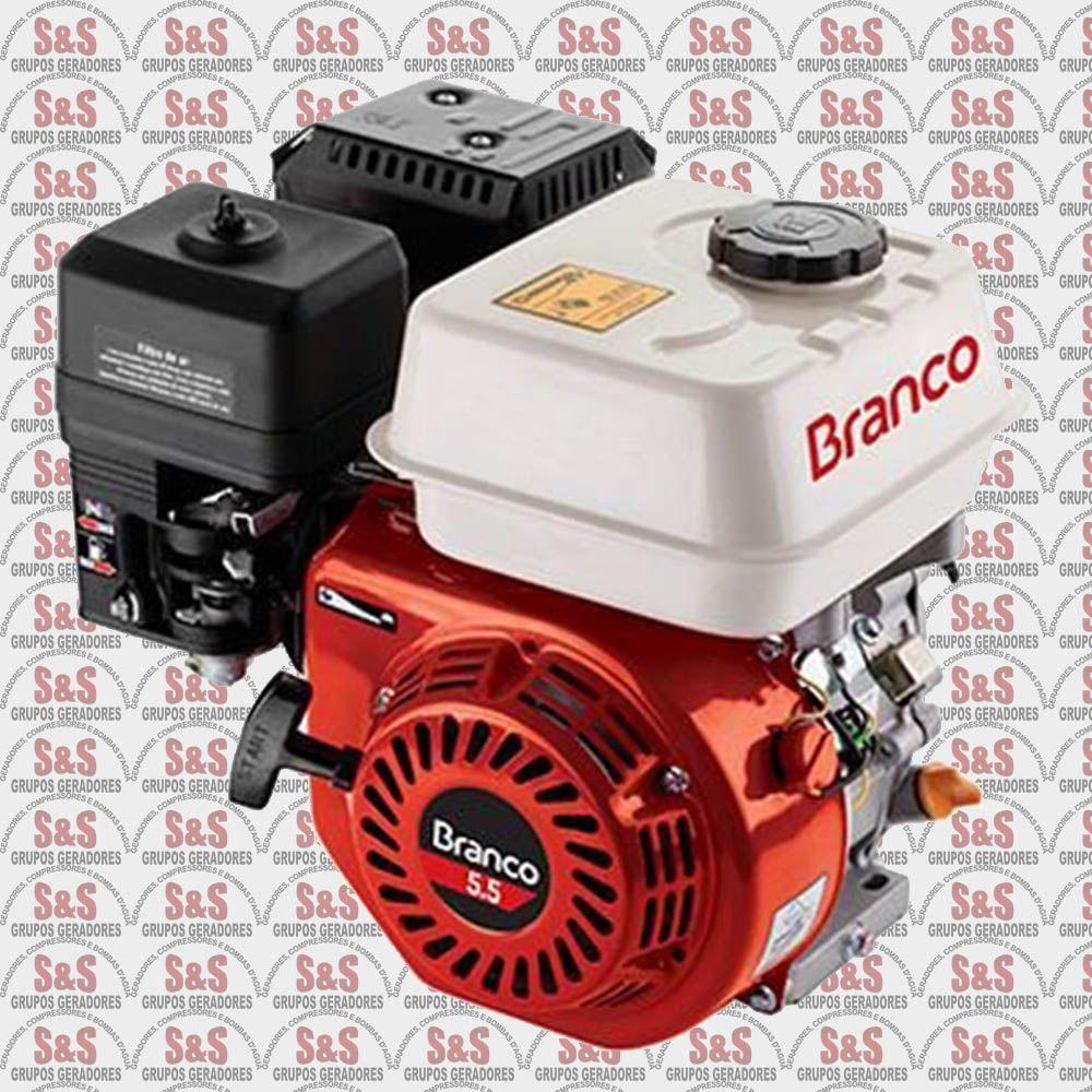 Motor a Gasolina - 4 Tempos - 5.5 CV - Partida Manual - B4T5.5 - Sem Alerta de Óleo - Branco
