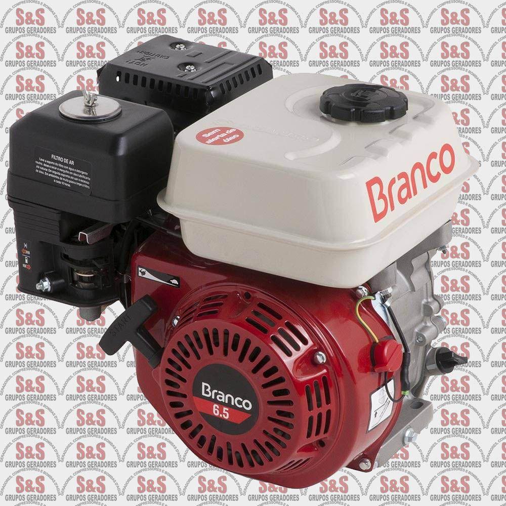 Motor a Gasolina - 4 Tempos - 6,5 CV - Partida Manual - B4T-6,5 - Sem Alerta de Óleo - Branco