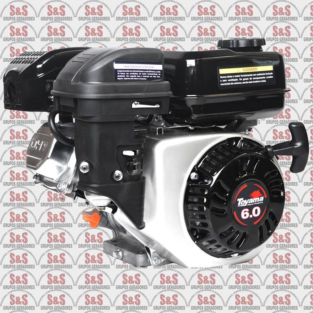 Motor a Gasolina 4 Tempos 6,5hp 180cc - Partida Manual - TE60N-XP - Toyama