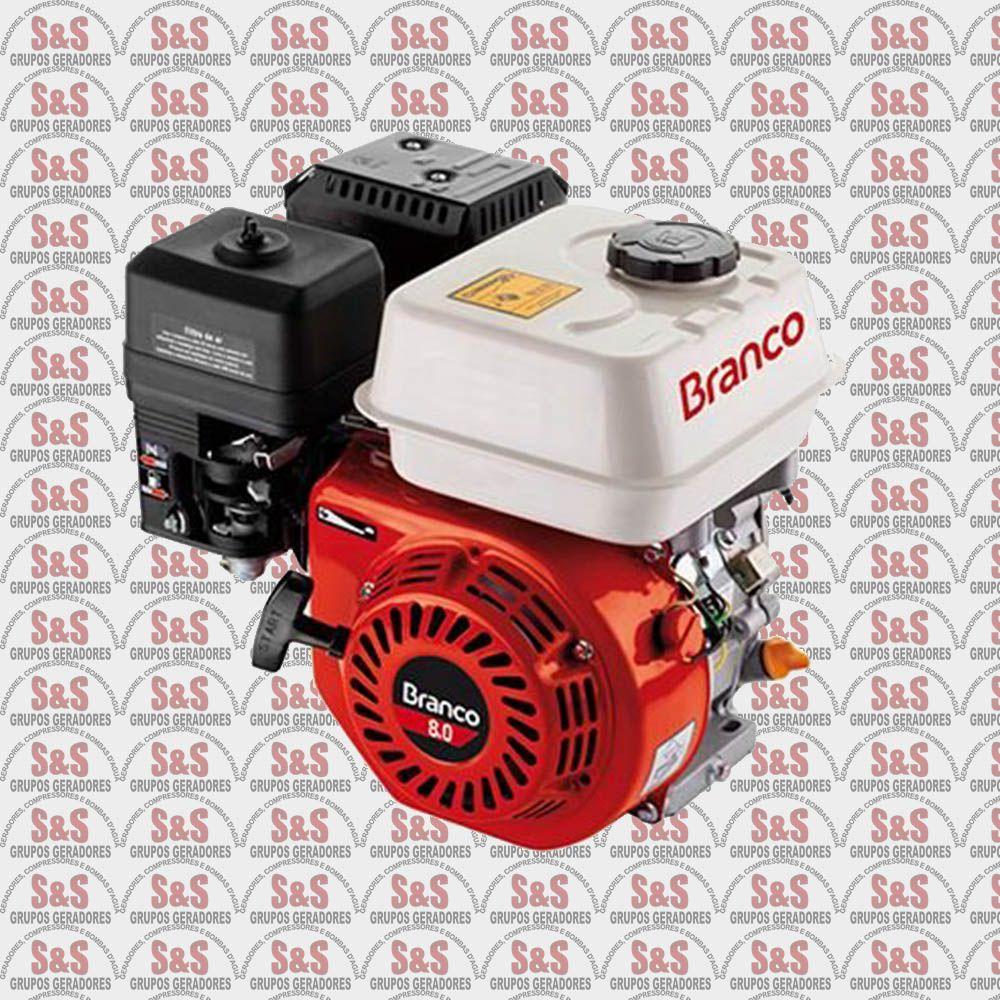 Motor a Gasolina - 4 Tempos -8,0 CV - Partida Manual - B4T8,5- Branco