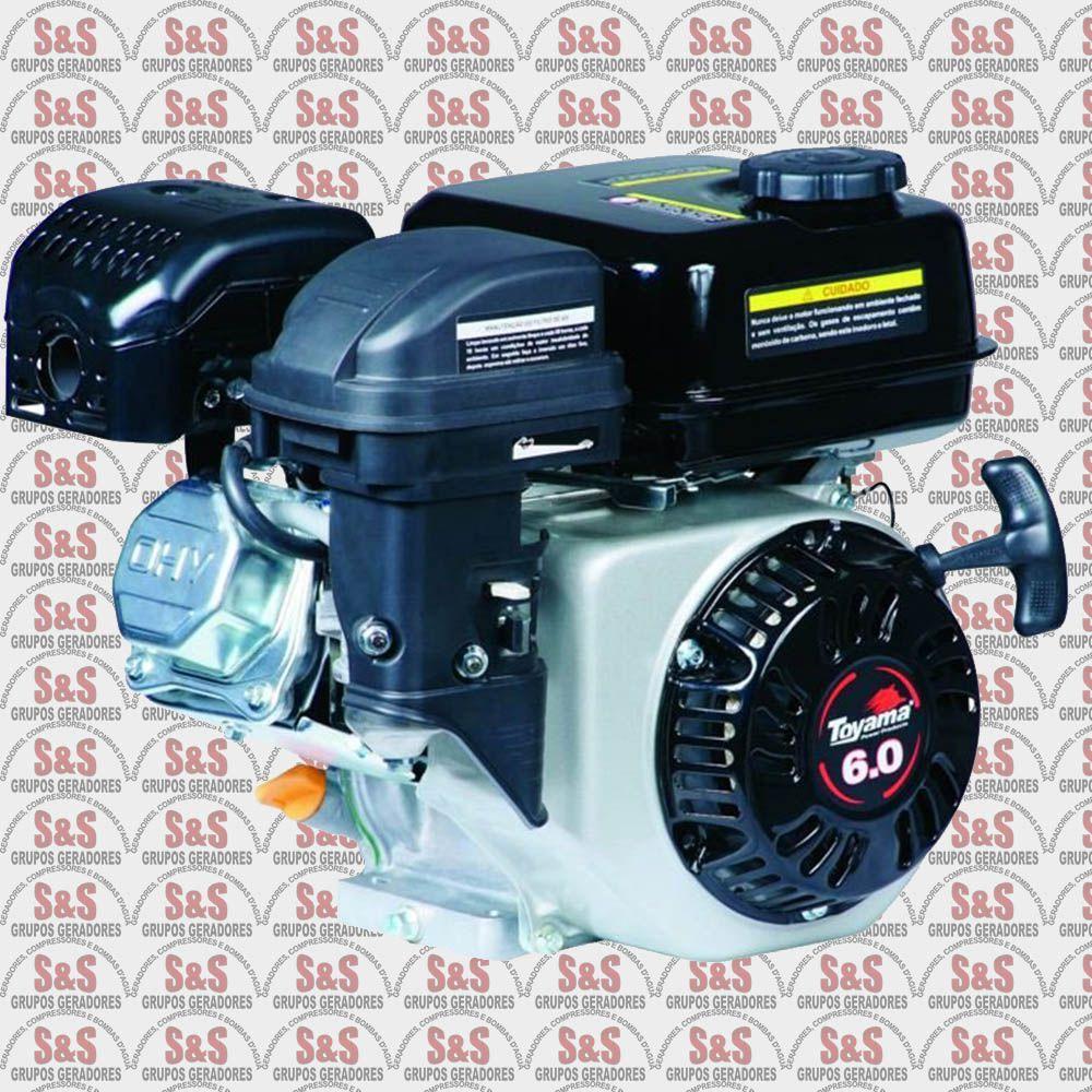 Motor a Gasolina - 4 Tempos Monocilindrico OHV 25° - 6.0 HP - Com Sensor de Oleo - TE60-XP - Toyama