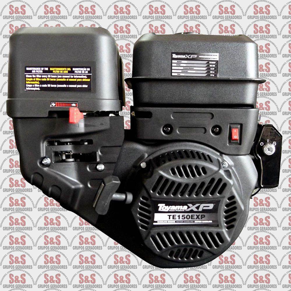 """Motor a Gasolina - 4 Tempos OHV - 15 HP - Eixo 1"""" - Sensor de Óleo - Partida Elétrica - TE150E-XP - Toyama"""