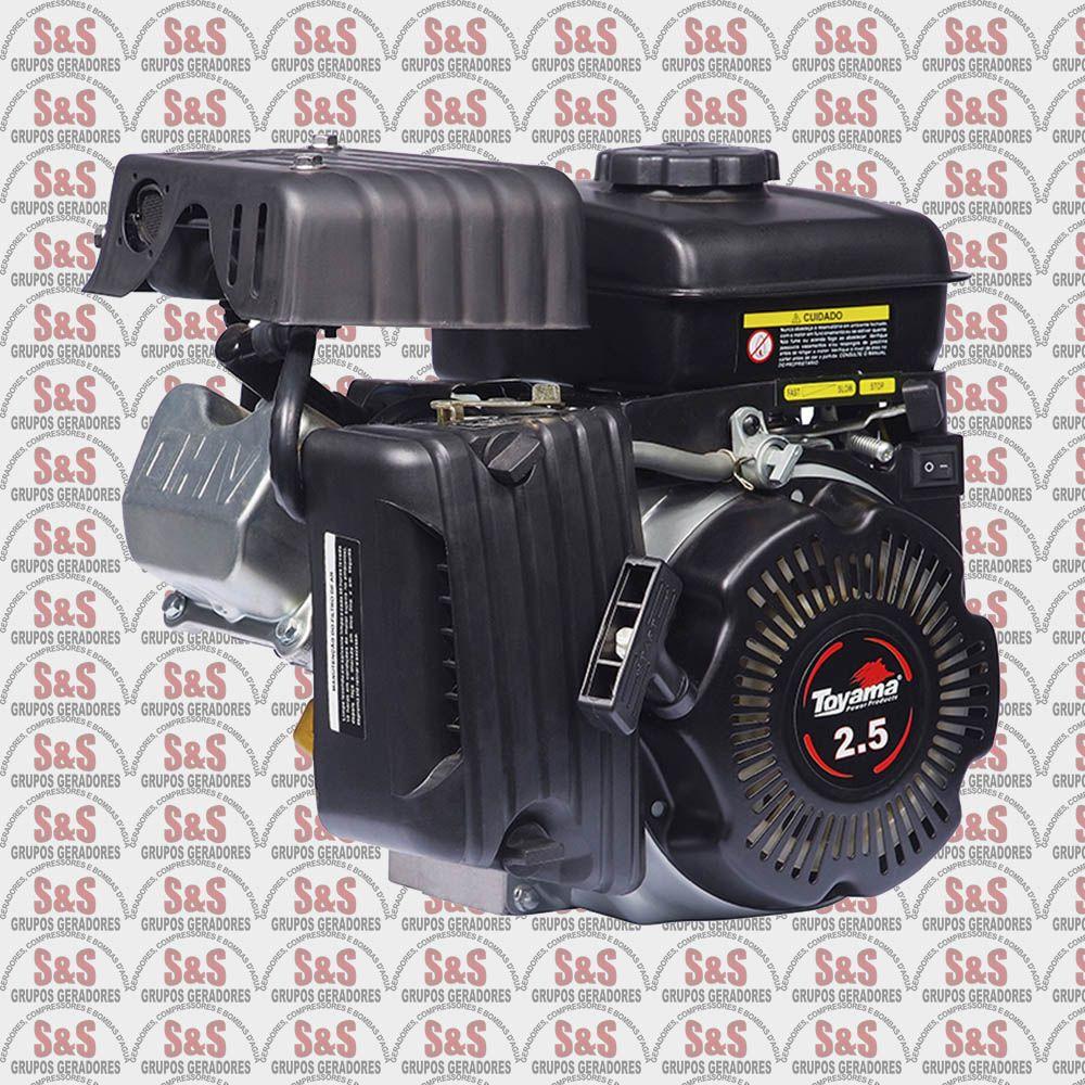 "Motor a Gasolina - 4 Tempos OHV - 2.5 HP - Eixo 5/8"" - TF25FXW - Toyama"