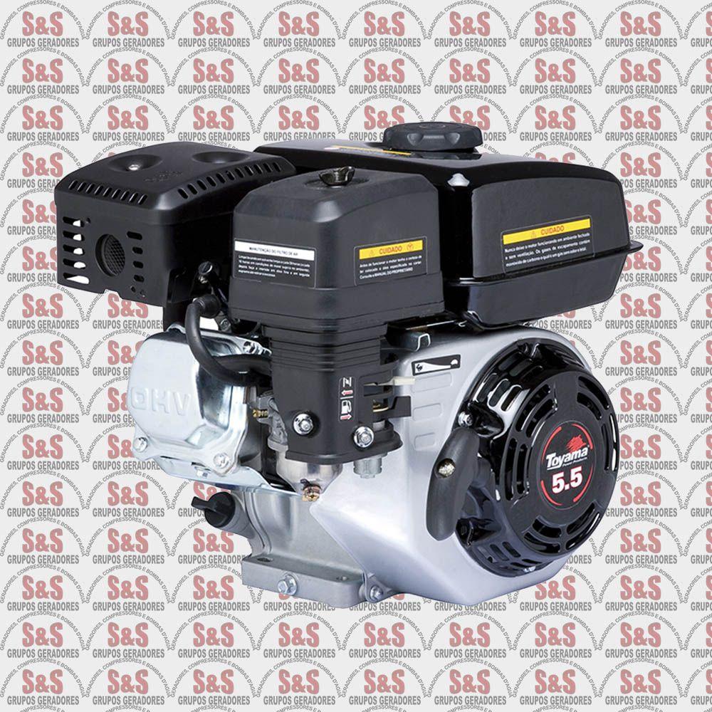 "Motor a Gasolina - 4 Tempos OHV - 5.5 HP - Eixo 3/4"" - TE55N-XP - Toyama"