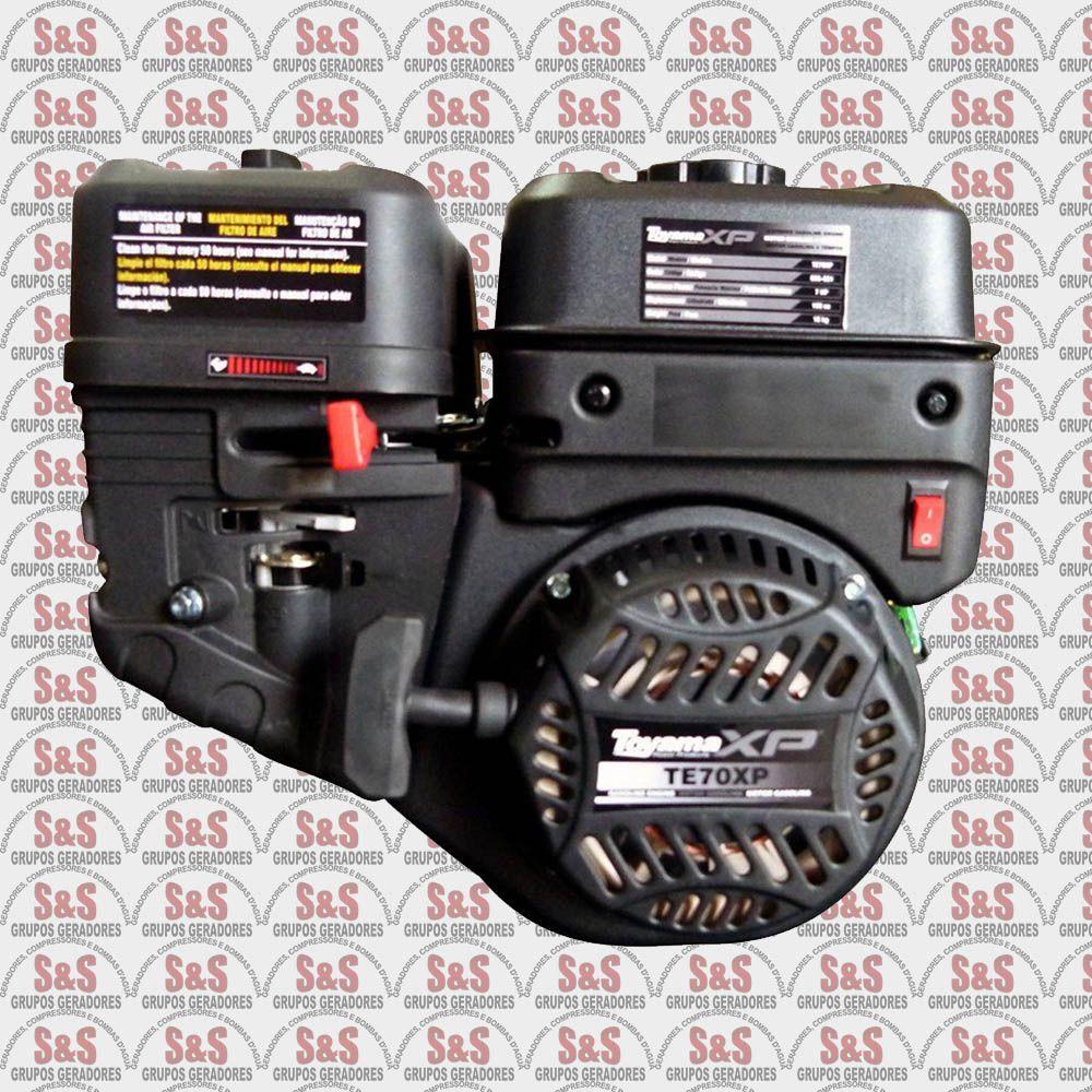 "Motor a Gasolina - 4 Tempos OHV - 7 HP - Eixo 3/4"" - Sensor de Óleo - TE70-XP - Toyama"