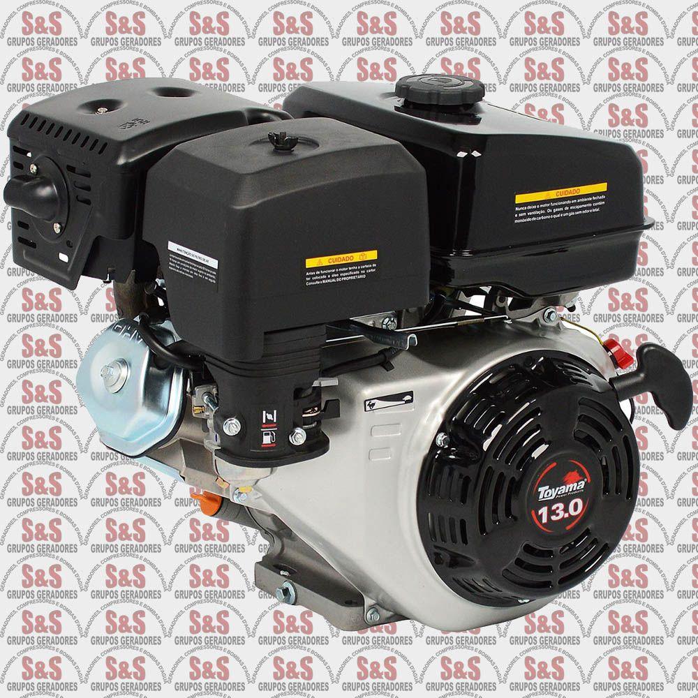 """Motor a Gasolina - 4 Tempos OHV sem sensor de óleo - 13 HP - Eixo 1"""" - Partida Manual - TF130-XP Toyama"""