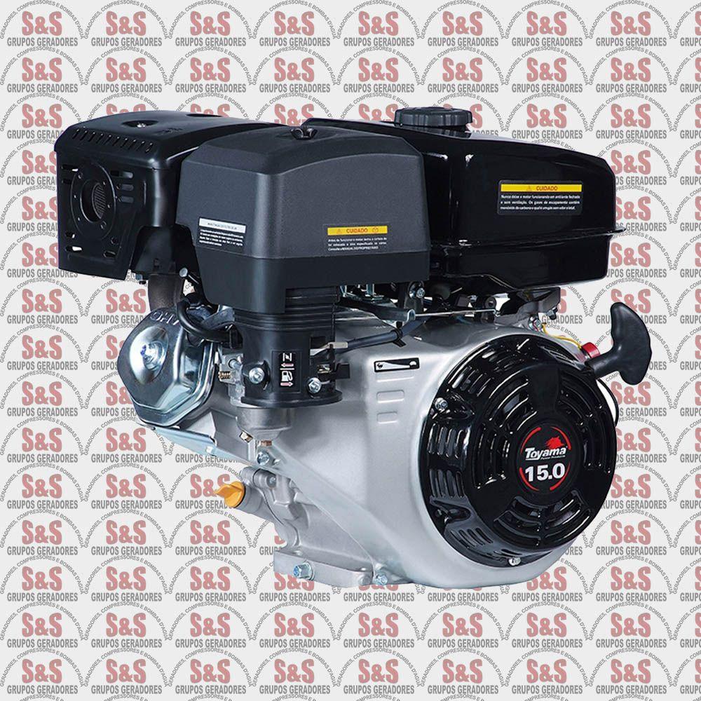 """Motor a Gasolina - 4 Tempos OHV com sensor de óleo - 15 HP - Eixo 1"""" - Partida Elétrica - TF150E-XP - Toyama"""