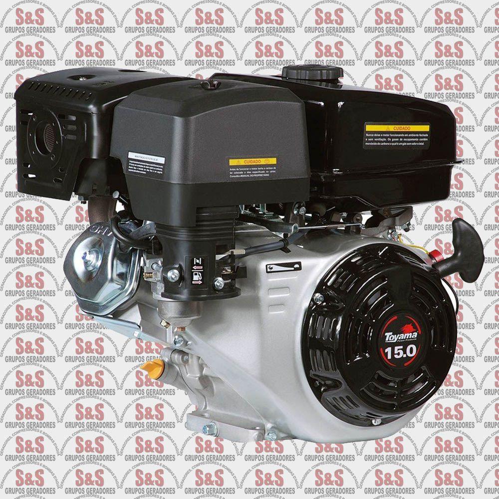 """Motor a Gasolina - 4 Tempos OHV com sensor de óleo - 15 HP - Eixo 1"""" - TF150-XP - Toyama"""
