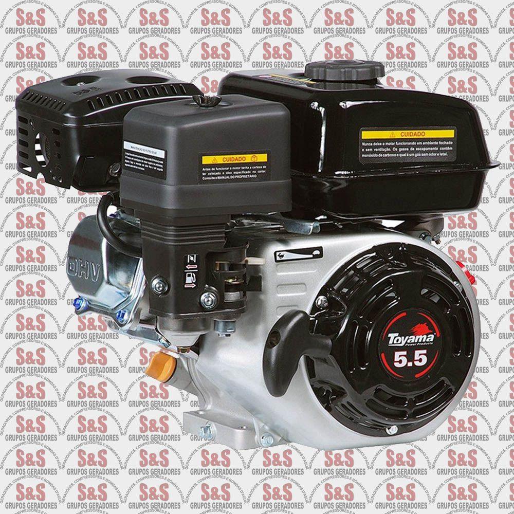 """Motor a Gasolina - 4 Tempos OHV com sensor de óleo - 5.5 HP - Eixo 3/4"""" - TE55-XP - Toyama"""