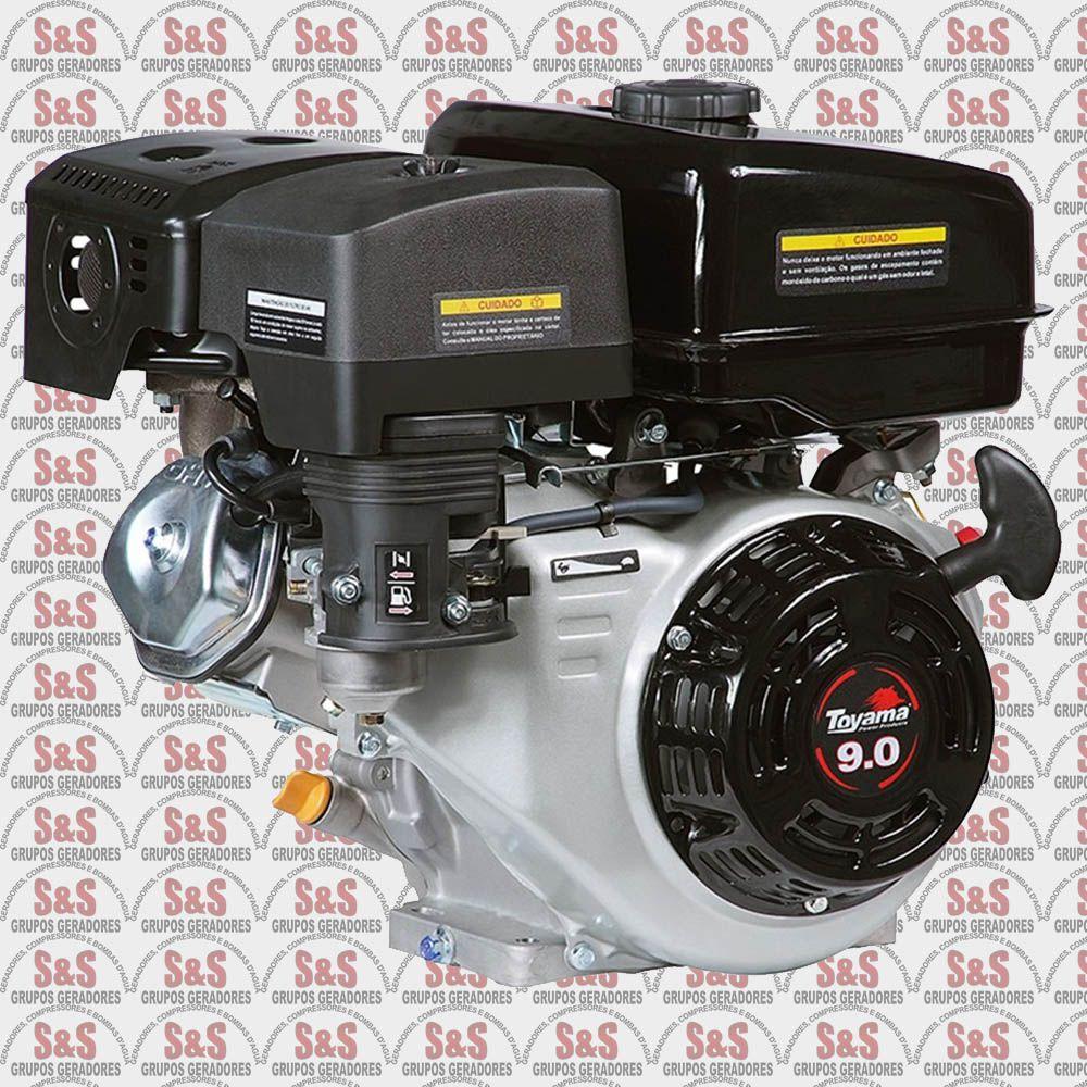 """Motor a Gasolina - 4 Tempos OHV sem sensor de óleo - 9 HP - Eixo 1"""" - TF90-XP - Toyama"""