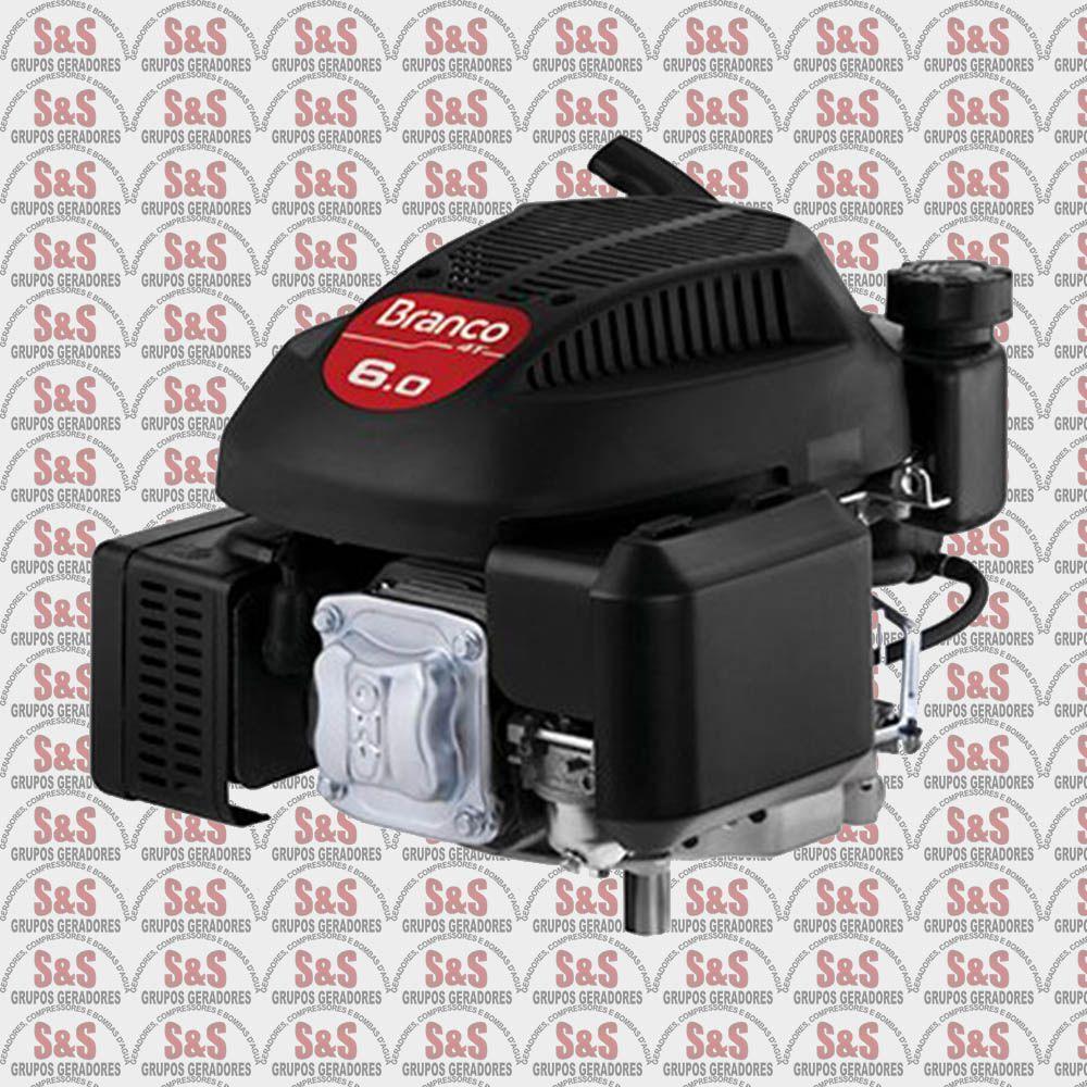 Motor a Gasolina para Cortador de Grama - Eixo Curto - Motor de 6 CV - 4 Tempos - B4T6.0VG3 - Branco