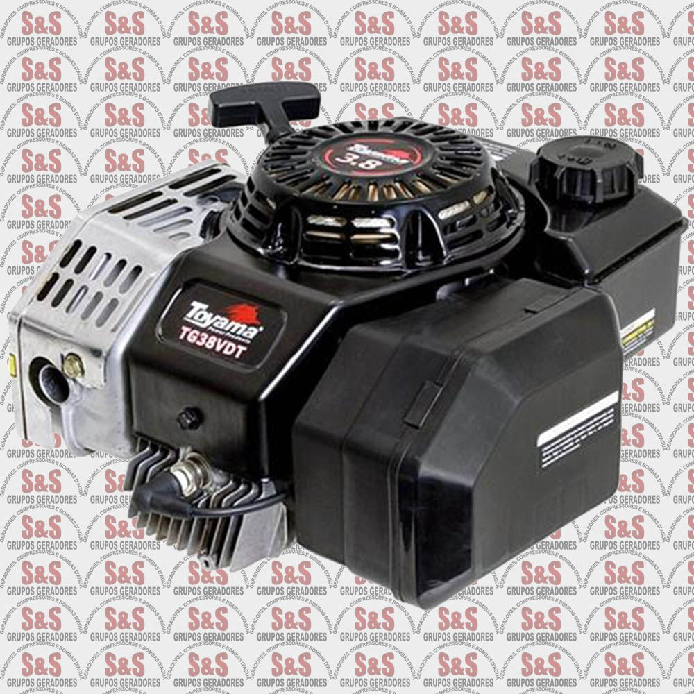 "Motor a Gasolina Vertical - 2 Tempos - 3,8 HP -  Eixo 7/8"" - TG38VDT - Toyama"