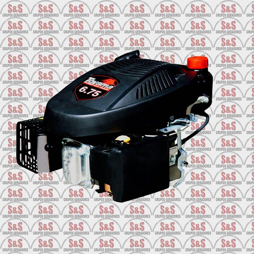 """Motor a Gasolina Vertical - 4 Tempos - 7/8""""- 6,75 HP - Refrigerado a Ar - TE67V-4 - Toyama"""