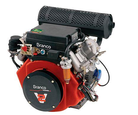 Motor a Diesel de 18,0 CV - Partida Eletrica - BD18,0 G2 - Branco