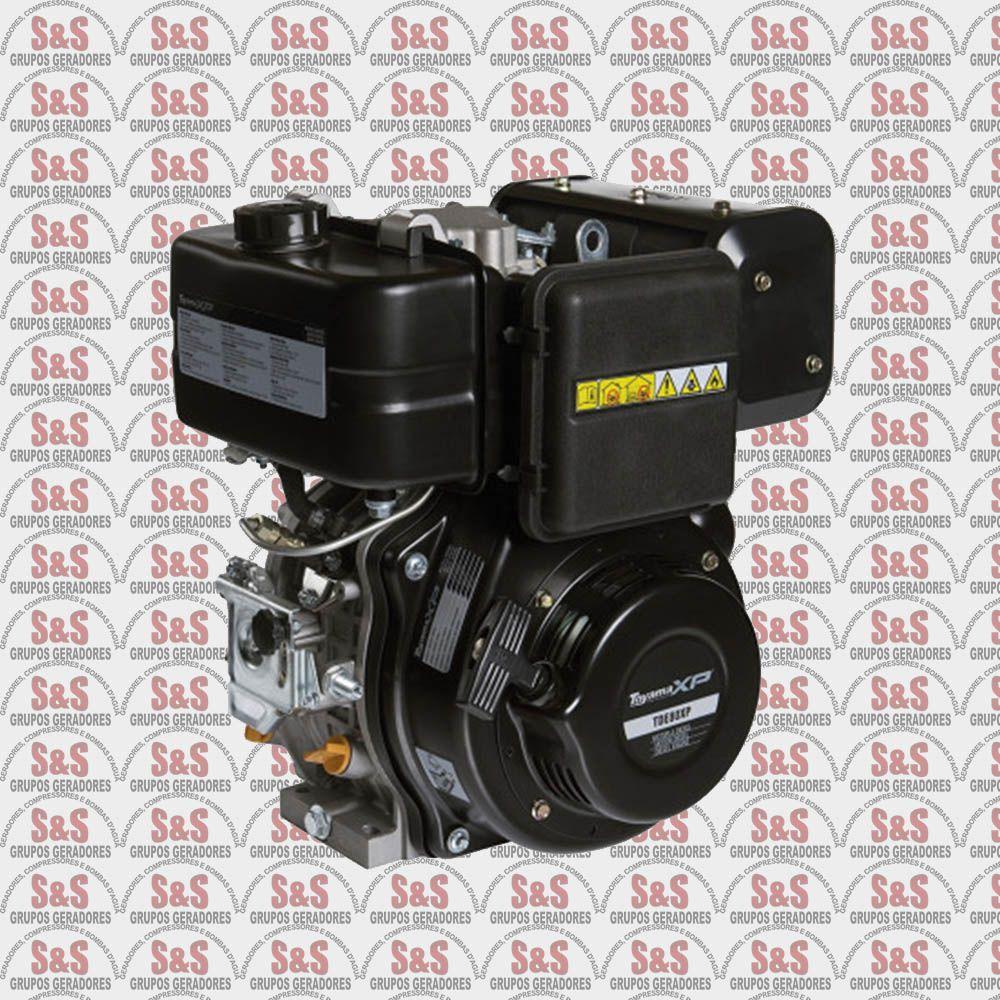 """Motor Estacionario a Diesel - 4 Tempos - 8,0 HP - Eixo 1"""" Multiestagio - Partida Eletrica - TDE80EXP - Toyama"""