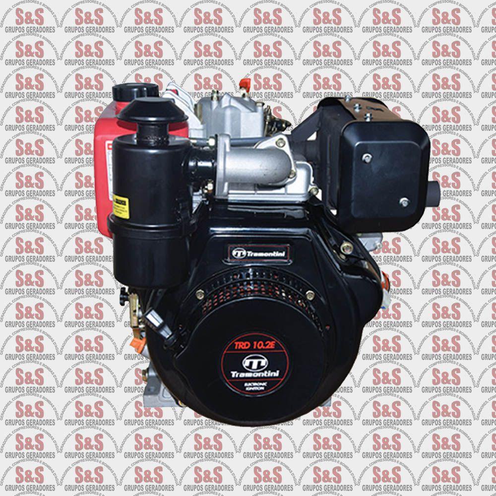 Motor Estacionario a Diesel - 4 Tempos - Refrigerado a Ar - 10.2 CV - Partida Manual/ Eletrica - TRD10.2 - Tramontini