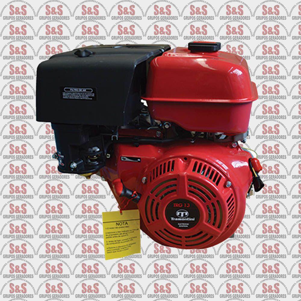 Motor Estacionario a Gasolina - 4 Tempos - Refrigerado a Ar - 13 CV - Partida Eletrica - TRG13 - Tramontini