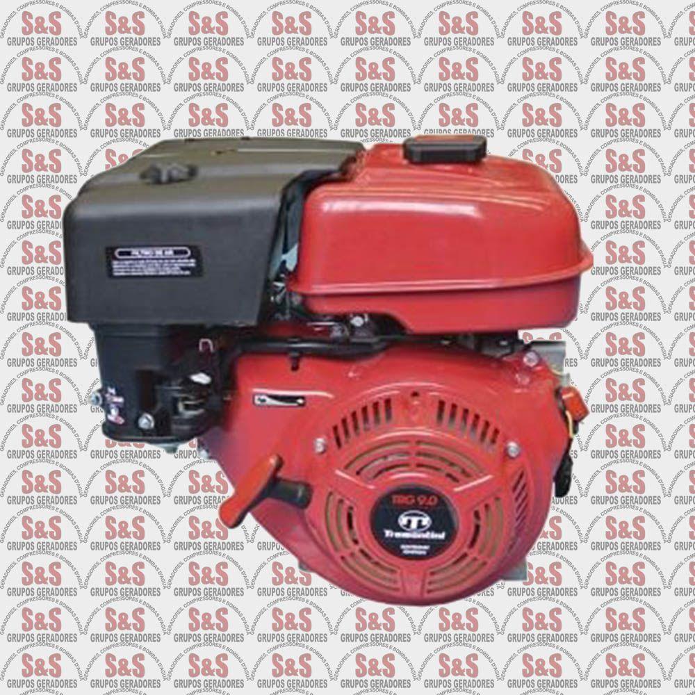 Motor Estacionario a Gasolina - 4 Tempos - Refrigerado a Ar - 9.0 CV - Partida Manual - TRG9.0 - Tramontini