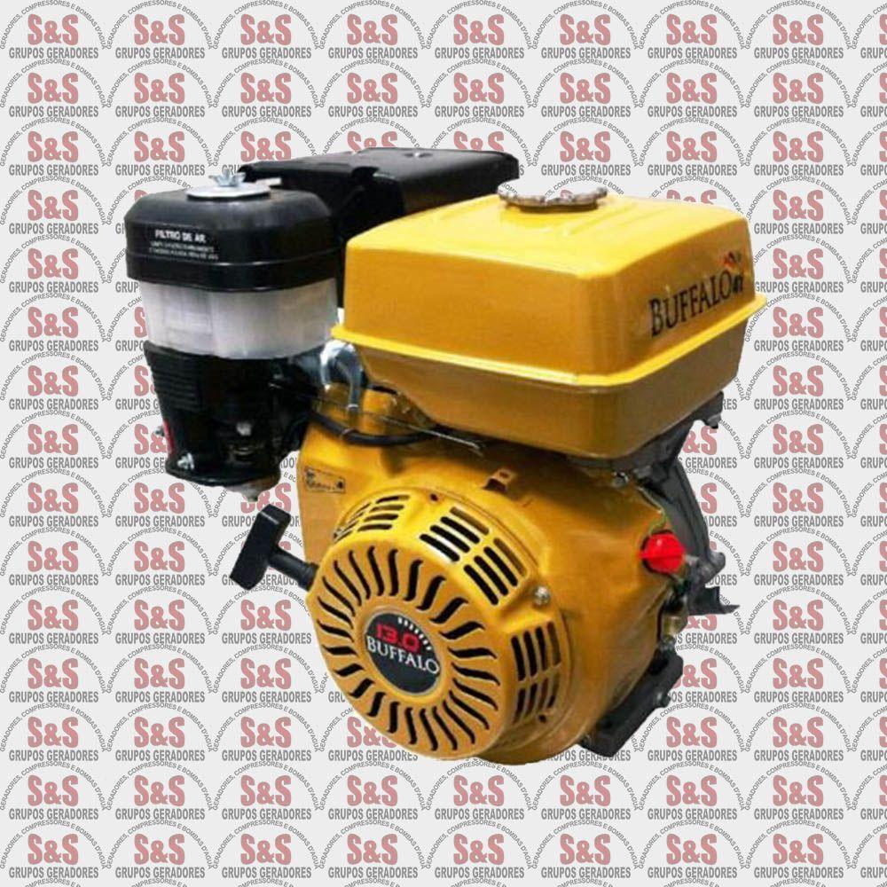 Motor horizontal a Gasolina de 13,0 CV a 3600 rpm - BFG13,0 - Partida Manual e Eletrica - Buffalo
