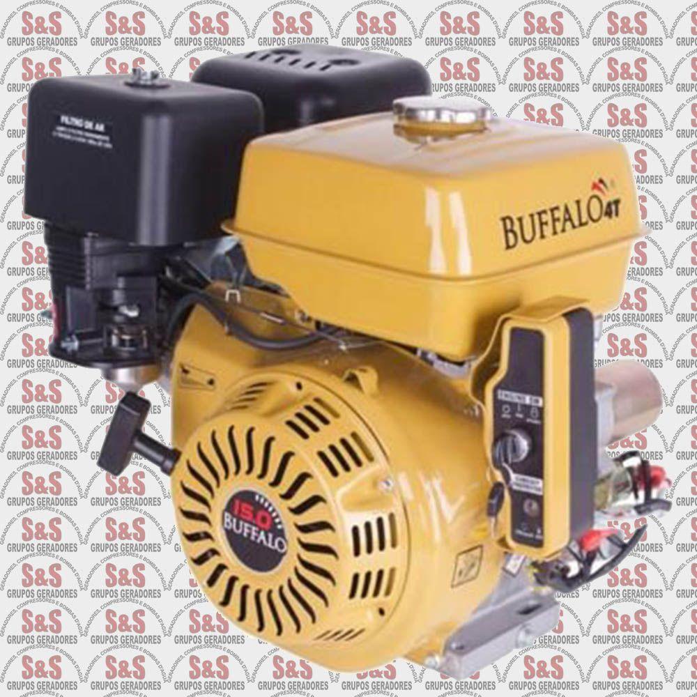 Motor horizontal a Gasolina de 15 CV a 3600 rpm - Partida elétrica - BFGE15.0 - Buffalo