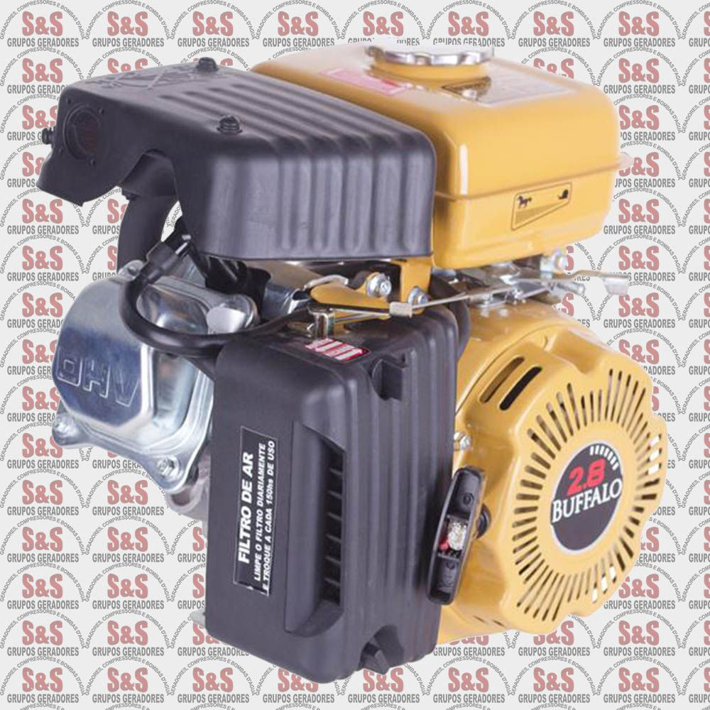 Motor horizontal a Gasolina de 2,8 CV a 3600 rpm - BFG2,8 - Partida Manual - Buffalo