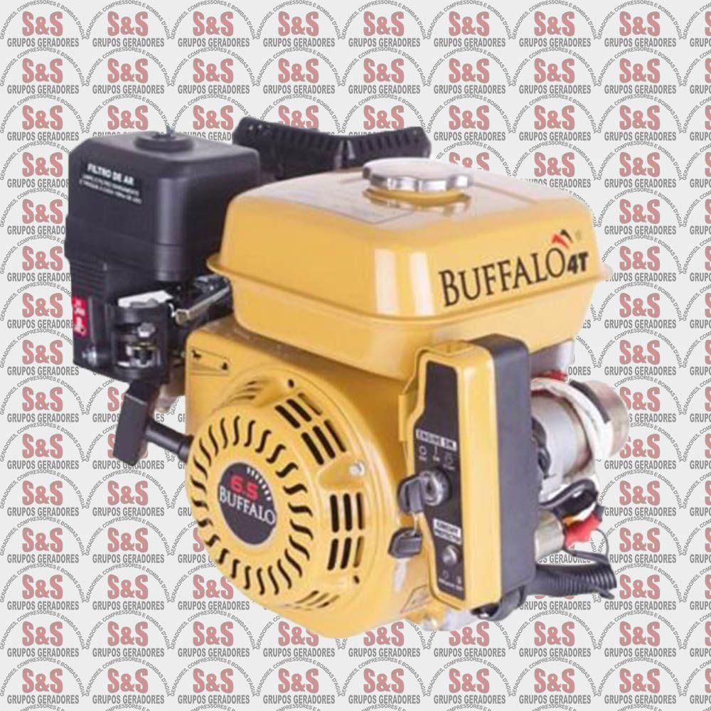 Motor horizontal a Gasolina de 6,5 CV a 3600 rpm - BFG6.5 - Partida Manual - Buffalo