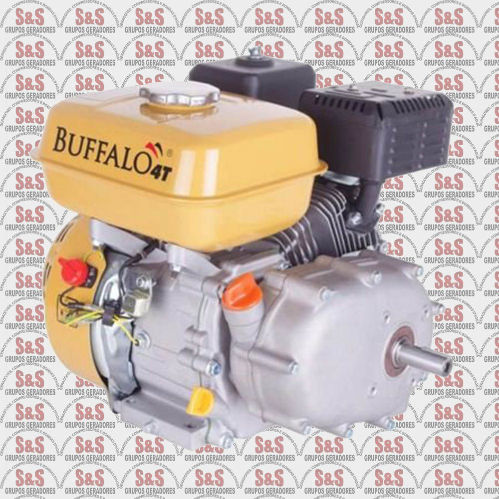 Motor horizontal a Gasolina de 6,5 CV a 3600 rpm - BFGE6.5 - Com Embreagem - Partida Elétrica - Buffalo