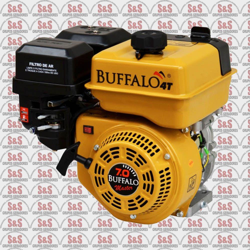 Motor horizontal a Gasolina de 7,0 CV a 3600 rpm - BFG7,0 Master - Partida Manual - Buffalo