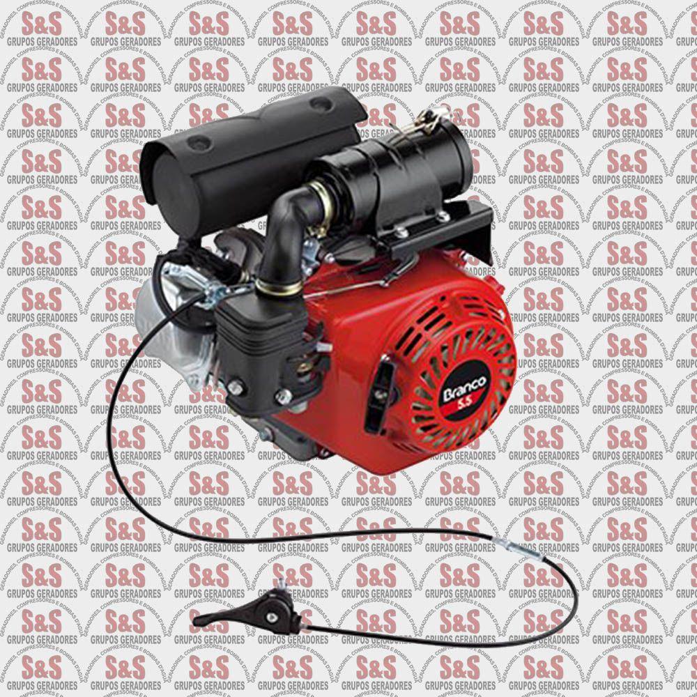 Motor para Compactador - Motor de 5.5 CV - 4 Tempos - B4T5.5CXG3 - Branco