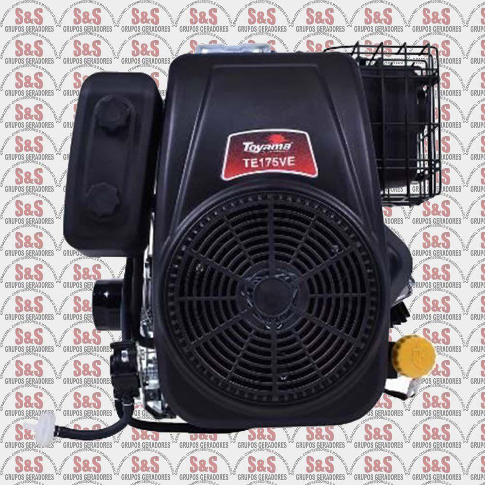 Motor Toyama a Gasolina TE175VE - 17.0HP - 4TOHV- Partida Eletrica