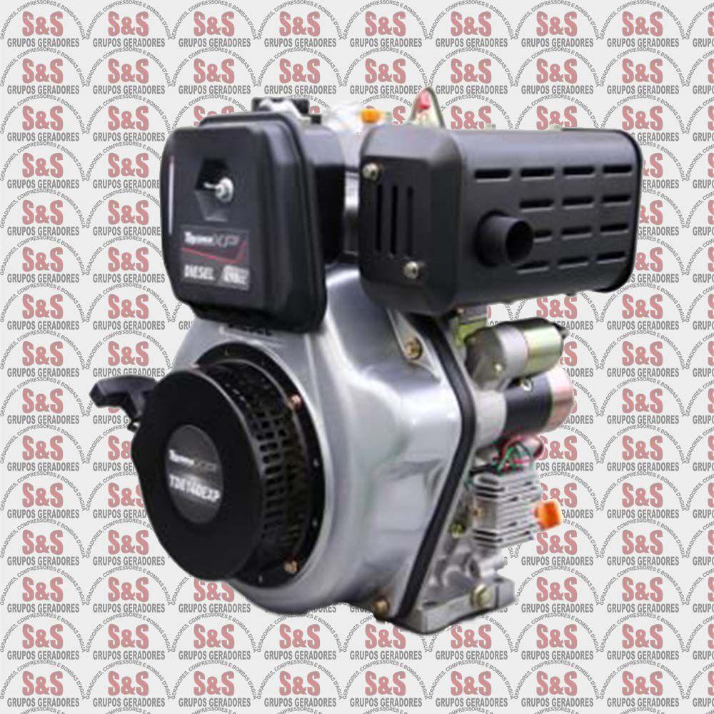 """Motor Toyama Diesel TDE140EXP - 13.5HP - 4T -eixo 1""""- Part.Eletr. Com carregador 12V"""