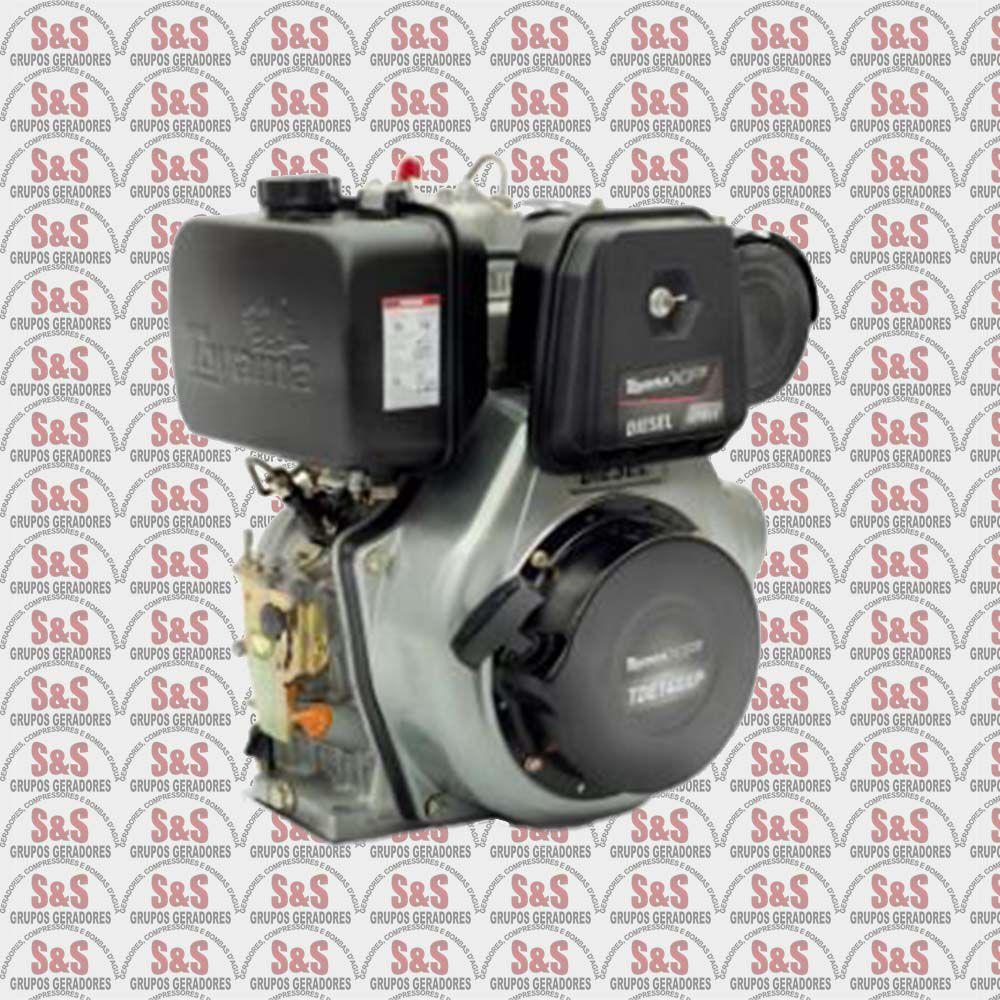 "Motor Toyama Diesel TDE140XP - 13.5HP - 4T -eixo 1""- part.manual-Com carregador 12V"