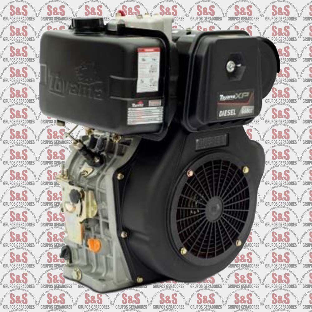 """Motor Toyama Diesel TDE160EXP - 15.5HP - 4T -eixo 1""""- Part.Eletr. Com carregador 12V"""