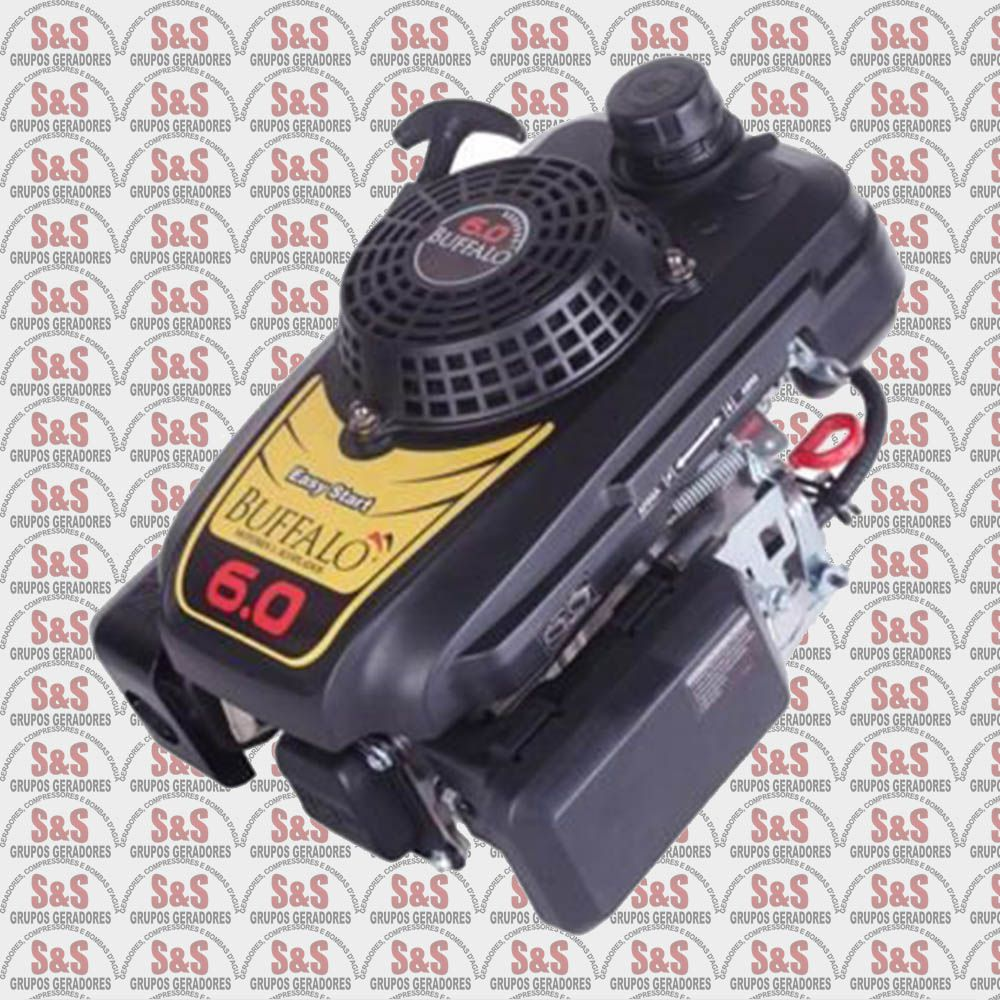 Motor vertical a Gasolina de 6 CV a 3600 rpm - Partida elétrica - BFGE6.0 - Buffalo