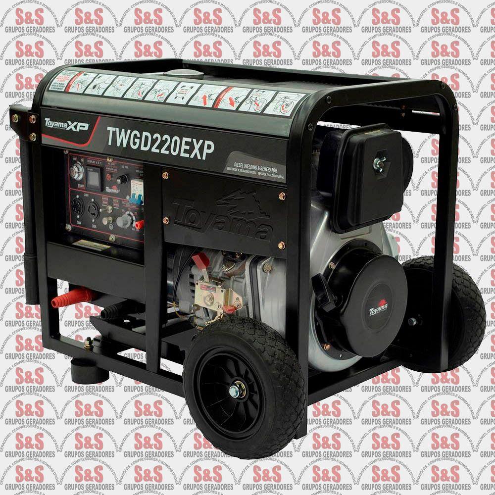Motosoldador/Gerador a Diesel 4 KVA - Monofásico - Partida Elétrica - TWGD220EXP - Toyama