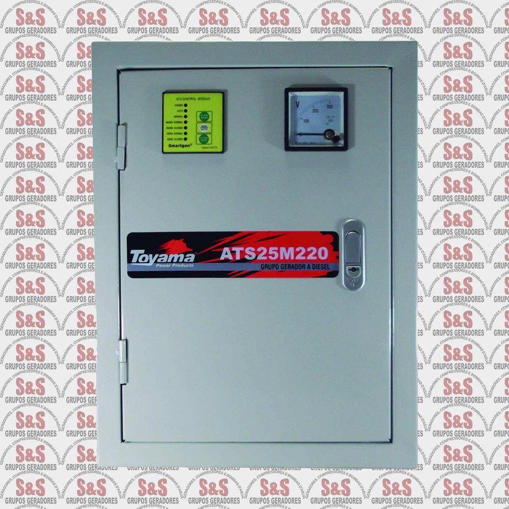 Painel de transferência automática (ATS) - Monofásico 220V para Gerador TD25SGE - ATS25M220 - Toyama