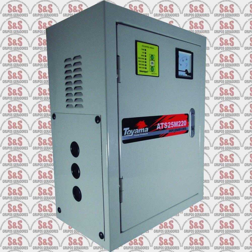 Painel de transferência automática (ATS) - Trifásico 220V para Gerador TD25SGE3-220 - ATS25T220 - Toyama