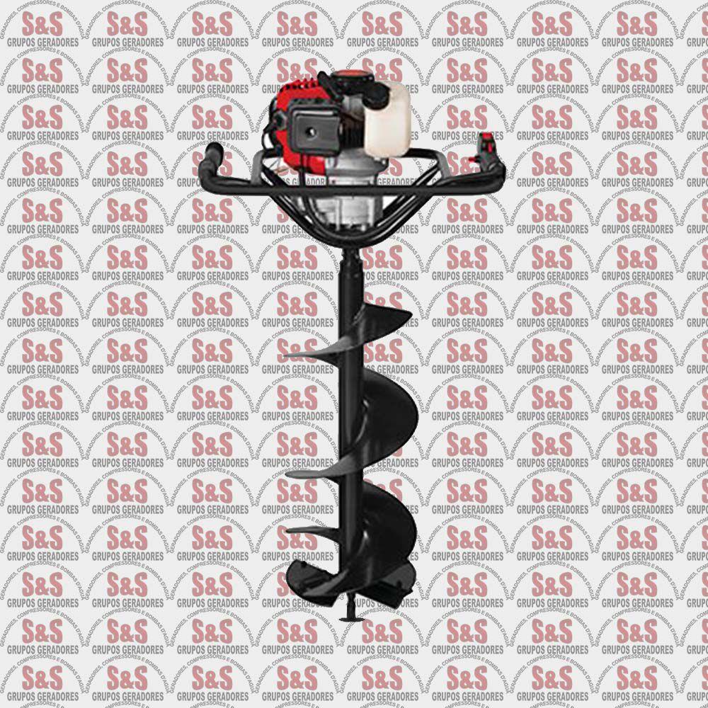 Perfurador de Solo a Gasolina - Motor de 2 CV - 2 Tempos - Sem Broca - BPS52 - Branco