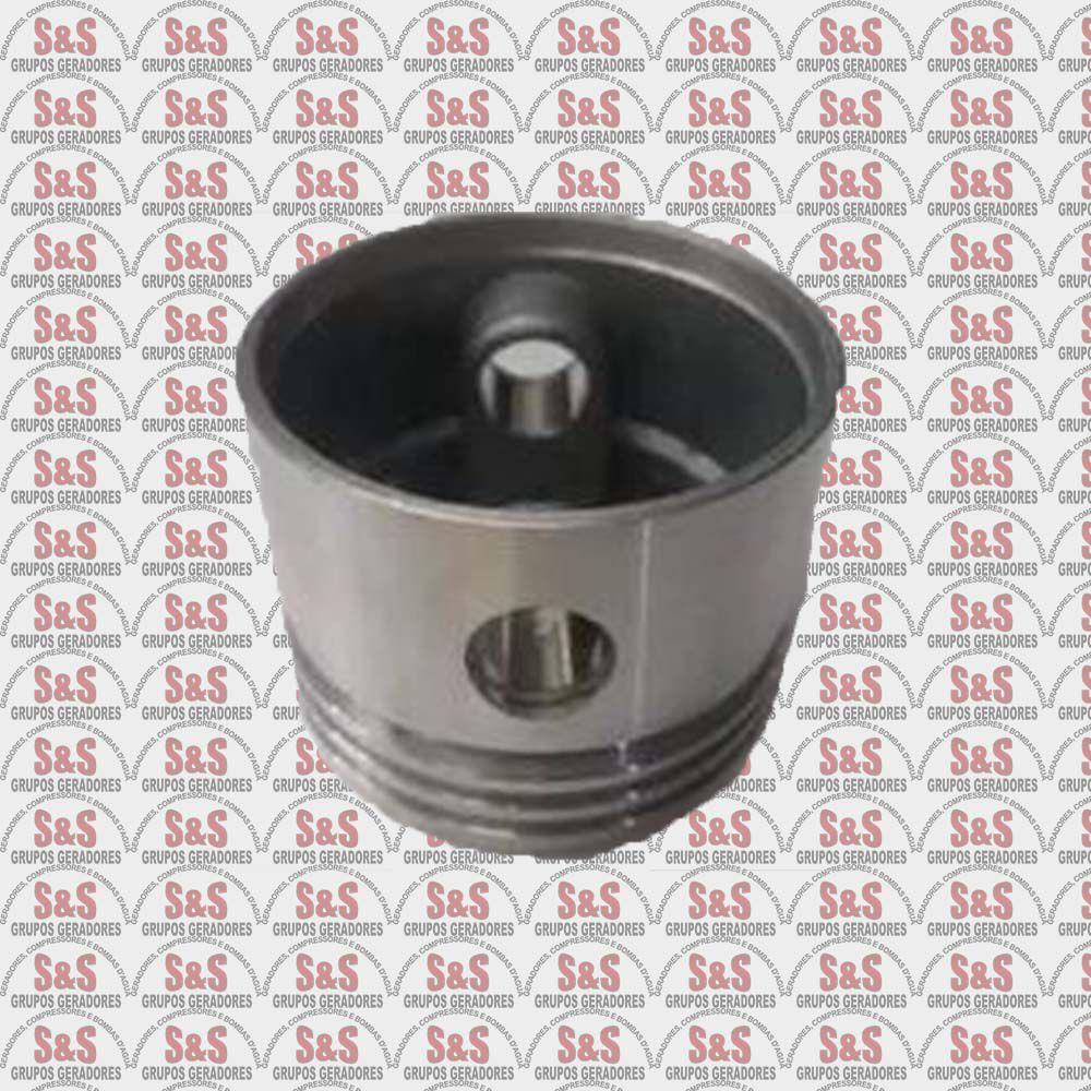 Pistão 65MM Furo 14,5 MM-Compressor de Ar Motomil - MBV -10 / CMW -15