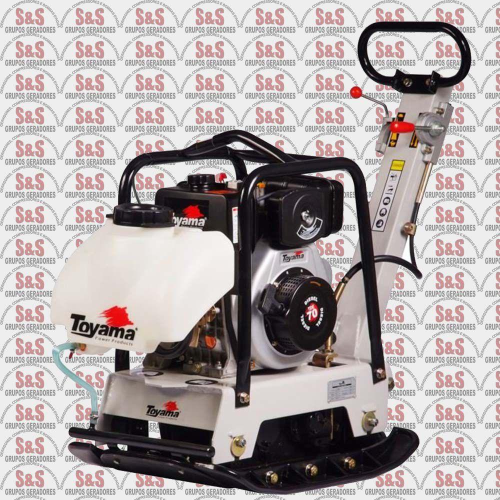 Placa Vibratória Reversível a Diesel - Motor de 6,5 HP - 4 Tempos - Tanque de 3,5 L - TDPC170WRCT - Toyama