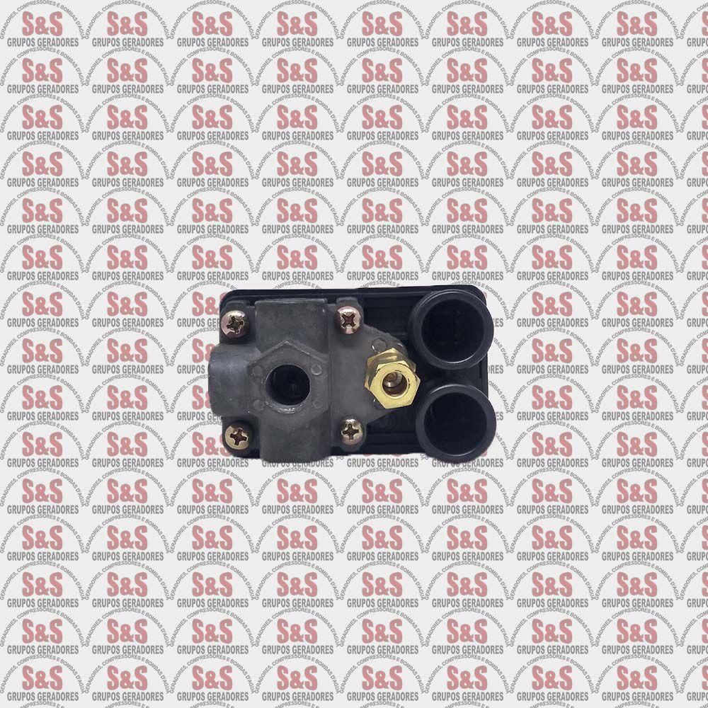 Pressostato Automático 80/120lbf - 4 Vias C/ Botão