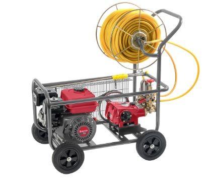 Pulverizador Estacionário 30-45L/min com Motor e Carrinho de Transporte- BRANCO
