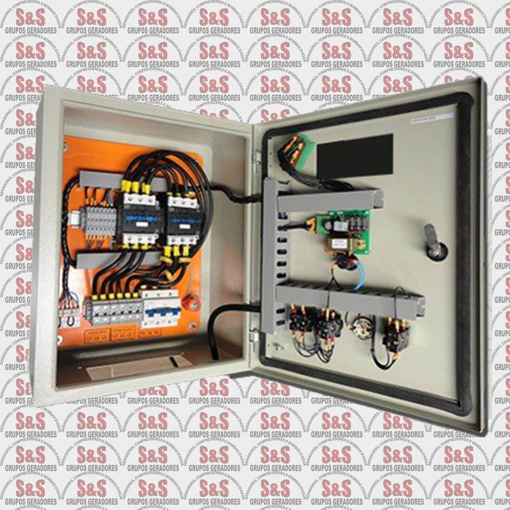 Quadro de transferência automática (QTA) com USCA - Trifásico 220V - 30 KVA - 80 Ampéres - Strazmaq