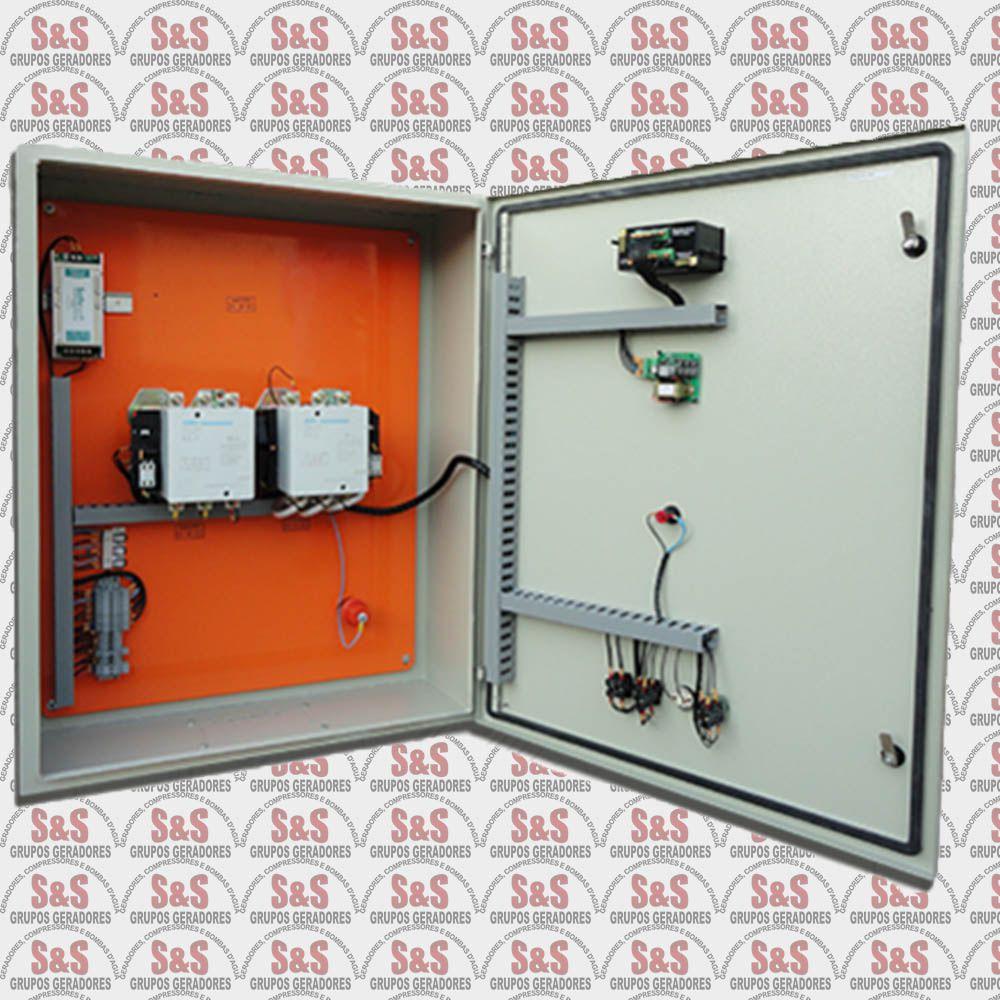 Quadro de transferência automática (QTA) com USCA - Trifásico 380V - 150 KVA - 400 Ampéres - Strazmaq