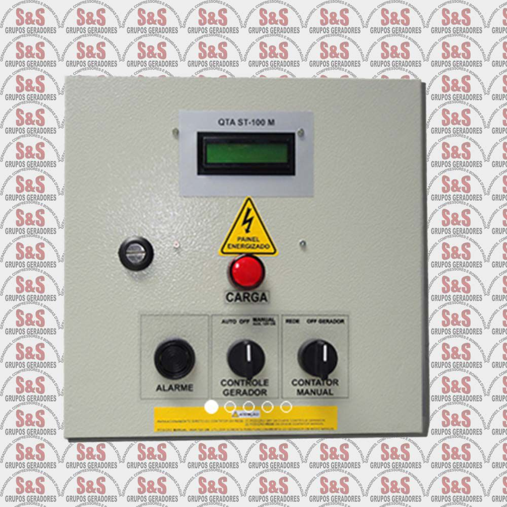 Quadro de transferência automática (QTA) - Trifásico 220V - 12 KVA - 50 Ampéres - Strazmaq